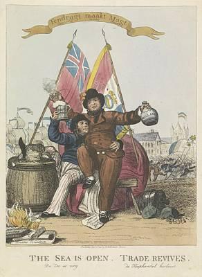 Drawing - Hernieuwde Vriendschap Tussen Nederland En Groot Brittannie 1813 Anonymous 1813 by R Muirhead Art