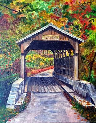 Trussed Painting - Herns Mill Bridge, Lewisburg Wv by Julie Brugh Riffey
