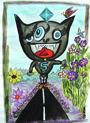 Murakami Painting - Hero  by Nila  Poduschco
