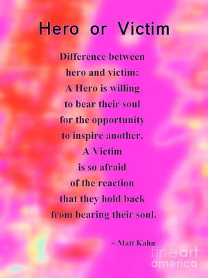 Photograph - Hero Or Victim by Sybil Staples