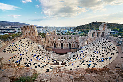 Photograph - Herodes Theatre by Songquan Deng