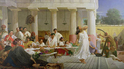 Meal Painting - Herod's Birthday Feast by Edward Armitage
