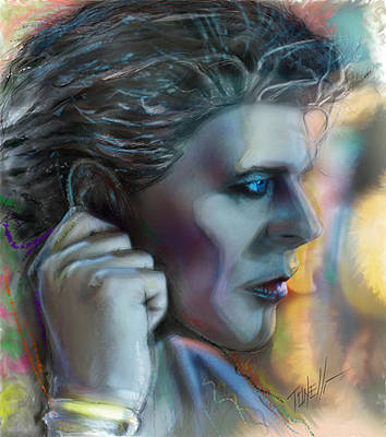 Bowie Heroes, David Bowie Art Print by Mark Tonelli