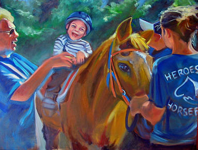 Painting - Heroes On Horseback by Kaytee Esser