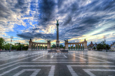 Photograph - Heroes Square Budapest Hungary  by David Pyatt