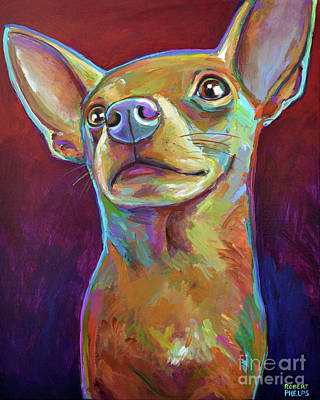 Painting - Heroic Chihuahua by Robert Phelps