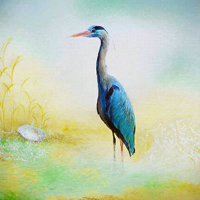 Heron Mixed Media - Heron by Amanda Lakey