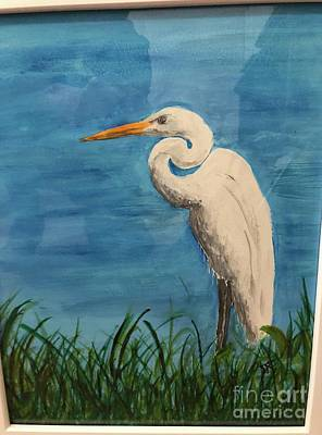 Painting - Heron by Donald Paczynski