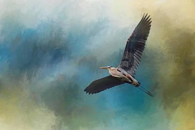 Heron In The Midst Art Print by Jai Johnson