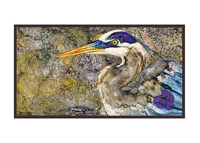 Painting - Heron by Jan Killian