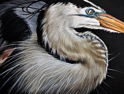 Painting - Heron by Katie McConnachie