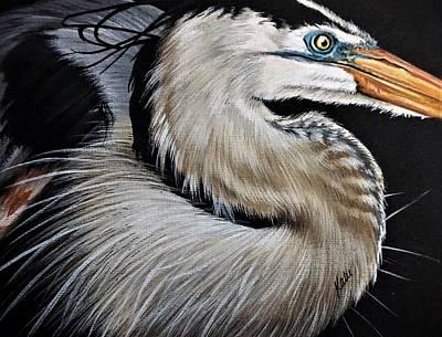 Painting - Heron by Katie McConnachie