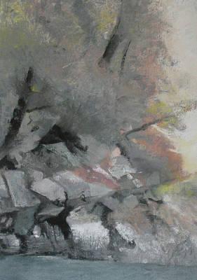 Pastel - Heron Lake Winter Glow by Anita Stoll