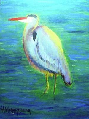 Heron Art Print by Lauren Mooney Bear