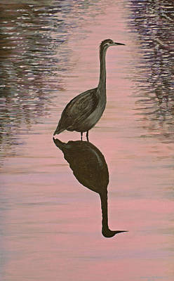 Heron Art Print by Laurie Stewart