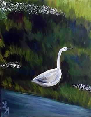 Heron Art Print by Loretta Nash