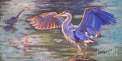 Painting - Heron Majesty by Janet McDonald