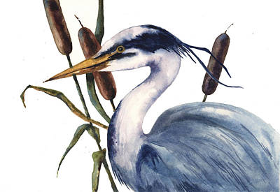 Wildfowl Painting - Heron Painting by Alison Fennell
