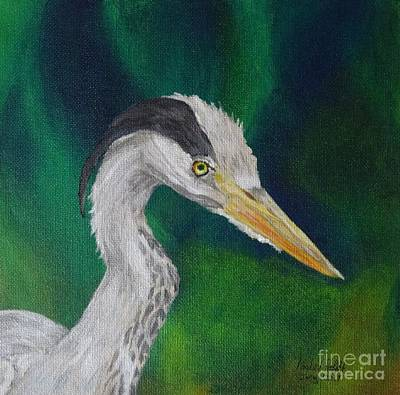 Heron Painting Art Print by Isabel Proffit