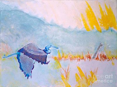 Sandra Silva Painting - Heron Pass by Sandra Silva