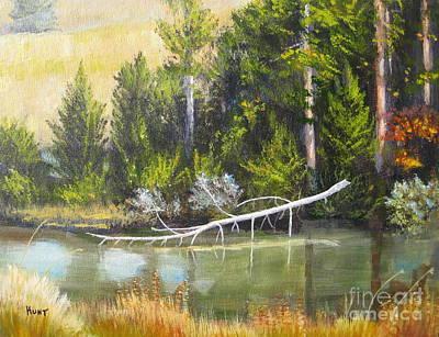 Painting - Heron Perch by Shirley Braithwaite Hunt