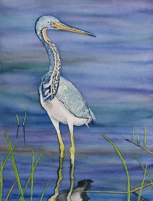 Heron Art Print by Sharon Farber