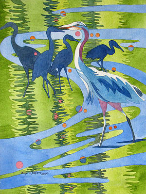 Painting - Heron by Sherri Bails