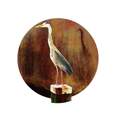 Digital Art - Heron by Simon Sturge