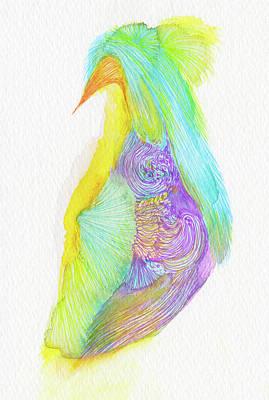 Heron - #ss16dw038 Art Print by Satomi Sugimoto