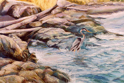 Painting - Heron by Synnove Pettersen