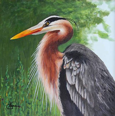 Painting - Heron by Vicki Gumm