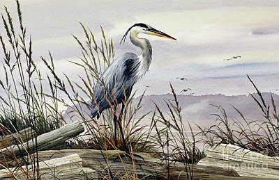 Painting - Herons Elegance Panorama by James Williamson