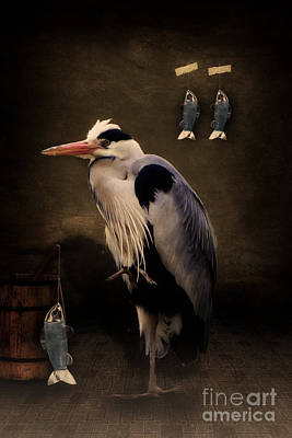 Heron Mixed Media - Heron's Home by Angela Doelling AD DESIGN Photo and PhotoArt