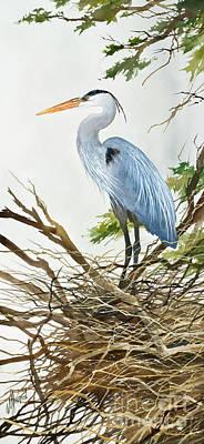 Herons Nest Original by James Williamson
