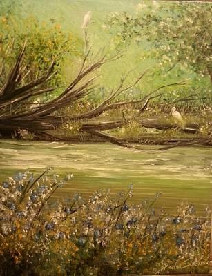 Herons Perch Art Print