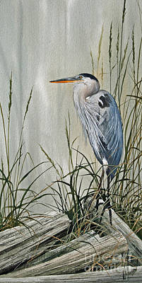 Heron Painting - Herons Quiet Rest by James Williamson