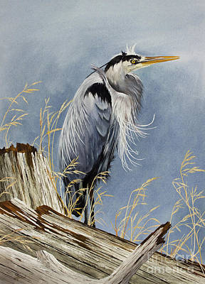 Herons Windswept Shore Art Print