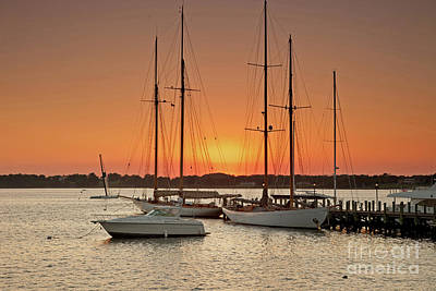 Photograph - Herreshoff Sunset by Butch Lombardi