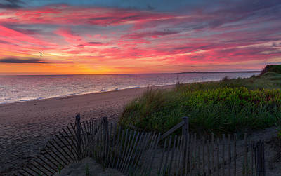 Photograph - Herring Cove Beach Sunset by Bill Wakeley