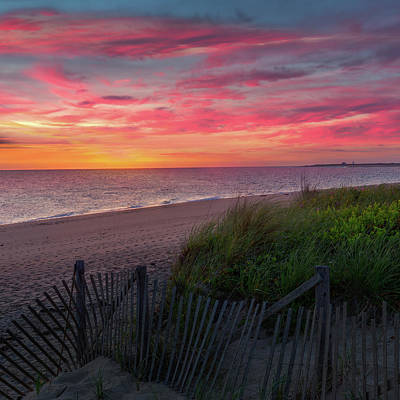 Photograph - Herring Cove Beach Sunset Square by Bill Wakeley