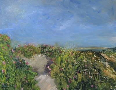 Painting - Herring Cove Flowering Dune by Michael Helfen