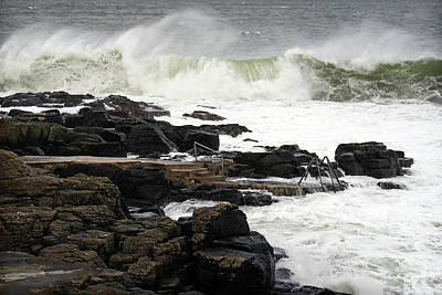 Photograph - Storm Conor Arrives At The Herring Pond, Portstewart by Colin Clarke