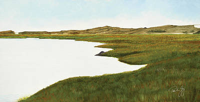 Cape Cod Painting - Herring River by Paul Gaj