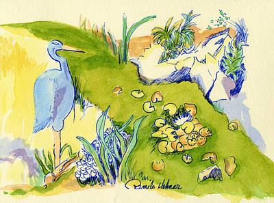 Herron Pond Art Print by Pamee Hohner