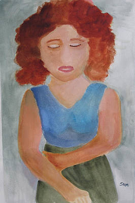 Art Print featuring the painting Herself by Sandy McIntire