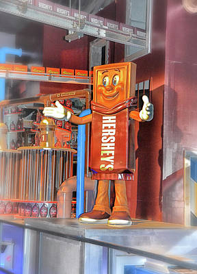 Photograph - Hershey Chocolate Bar Character by Mike Martin