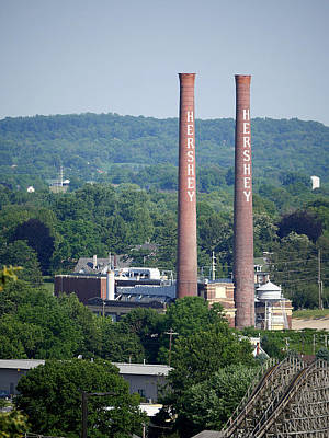 Photograph - Hershey Smokestacks by Richard Reeve
