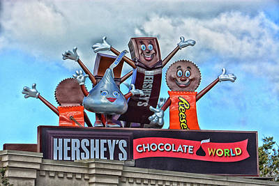 Photograph - Hershey's Chocolate World Sign by Mike Martin