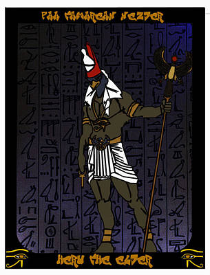 Heru The Elder Art Print by Derrick Colter