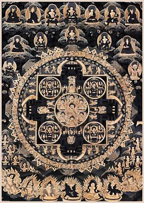 Heruka Yab Yum Mandala Art Print by Lanjee Chee